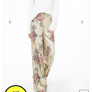 Forever21 floral sequin pants
